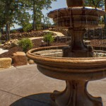 tiered fountain in Sacramento landscaping
