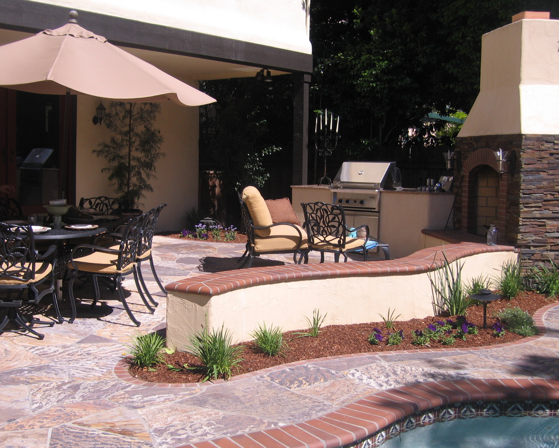 stamped concrete pool decks roseville stained concrete pool deck