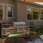 outdoor kitchen and tap