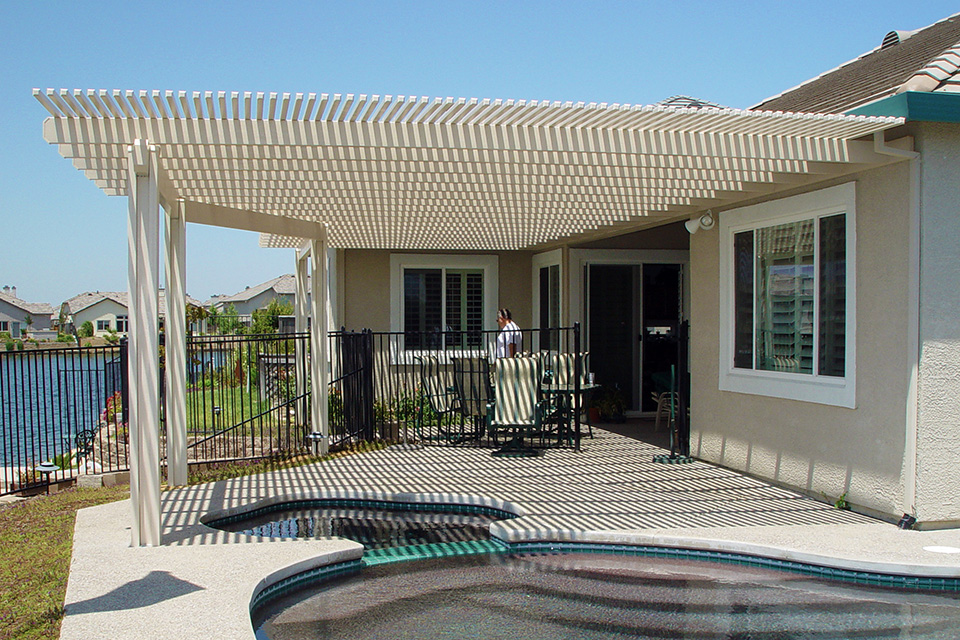 Rocklin Lattice Trellis Shade Structure Hardscape Capital