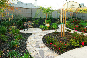 How to create a bright green landscape with less water for Landscaping rocks sacramento