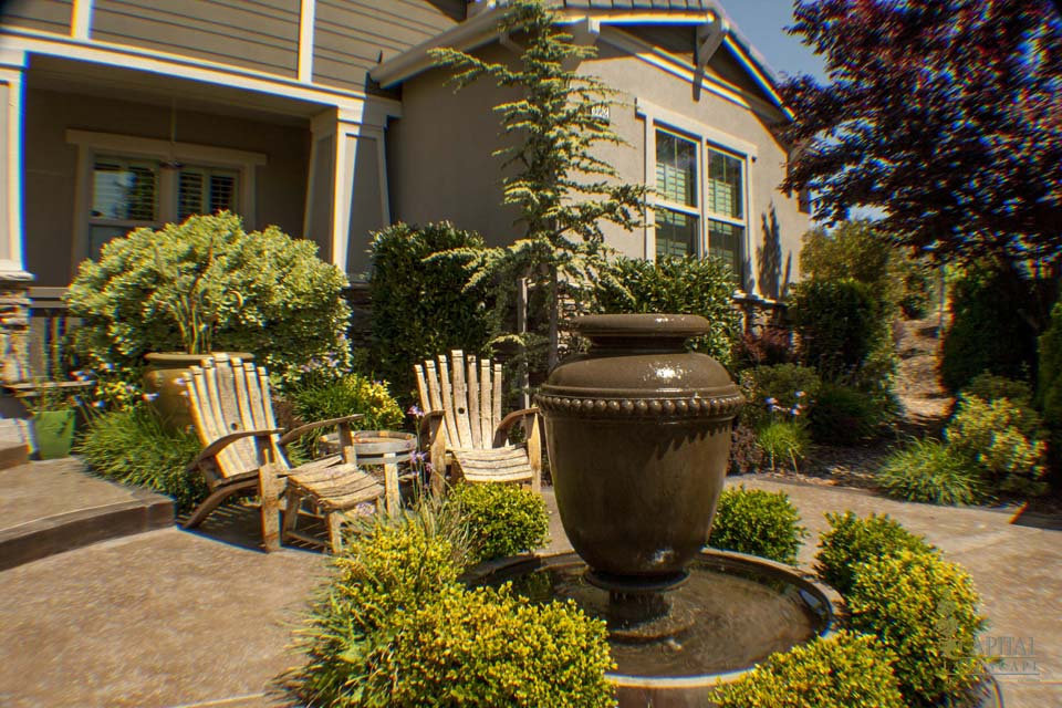 front yard courtyards