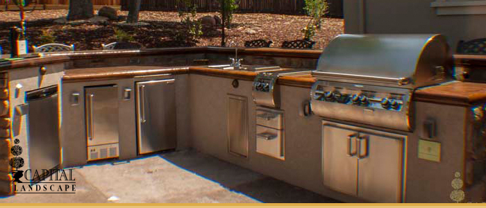 Custom Outdoor Kitchens in Landscape Design